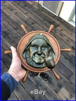 Rare Antique Vintage Nautical Fisherman Cigar electric Lighter Wall Plaque