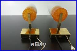 Rare Pair Of Mid Century Vintage Wall Lamps Sconces Germany 1960s