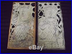 Rare Pair of Vintage Syroco Wood King and Queen Plaques Wall Art 9.5x18 paint