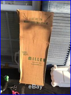 Rare Vintage Miller Merry Christmas Wall Plaque Santa / Snowman with box
