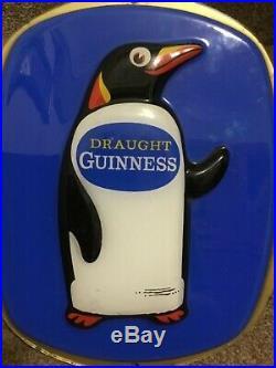 Rare Vintage Original Guinness Advertising Sign Wall Plaque Penguin Sign