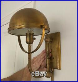 Rare Vintage Ralph Lauren Home Carthage Helmet Wall Sconce Light Fixture