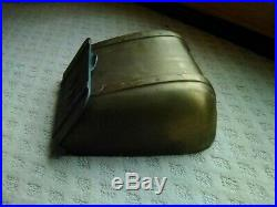 Rare Vintage US Solid Brass Saddlebag Mailbox Wall Mount Letter Box