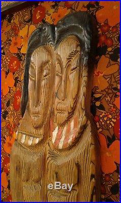 Rare Witco Tiki Bar Wood Wall Art Sculpture Vtg MID Century Hawaii Island Plaque