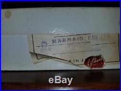 Rare in original box NOS Vintage Lefton Ceramic Mermaid Wall Plaque hanging