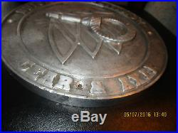 Rare vintage solid aluminum factory wall plaque Buick Motor Division Gear & Axle