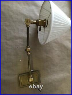 Robert Abbey Vintage Reproduction Swing Arm Wall Sconce In Aged Brass