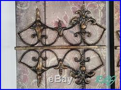 Rustic Vintage Elegant French Country Set of 3 Metal Wall Art Panel Plaque Decor