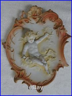 Sale Pair Ornate Vintage Antique Meissen Chubby Blonde