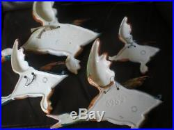 SET OF 4 VINTAGE BESWICK FLYING DUCK WALL PLAQUES No. S 596/1/2/3/4