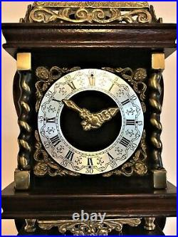 Small ANTIQUE NU ELCK SYN SIN DUTCH CHIMING WALL CLOCK 30 hour German movement