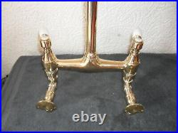 Solid Brass Wall Mounted Kitchen Lever Mixer Tap Original Old Vintage Reclaimed