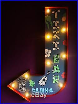 TIKI BAR arrow light led sign aloha cocktail hawaii vintage wedding gift VAC203