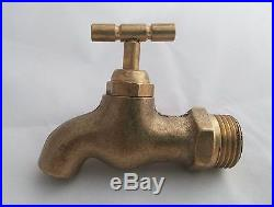 Thai Faucet Brass Vintage Antique Spigot Retro 1/2 Water Tap Wall Old Mounted