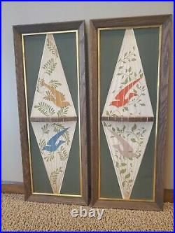 Turner Vtg MID Century Modern Stylized Home Decor Wall Plaques