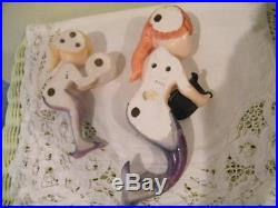 VINTAGE 1950'S 2-MERMAID'S by LEFTON WALL HANGING PLAQUES made in JAPAN