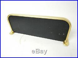 VINTAGE BATH OR FLOOR RACK MID CENTURY MODERN GLASS BRASS PLATE WALL SHELF 50s