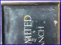 VINTAGE BRASS / BRONZE LLOYDS BANK WALL SIGN VERY LARGE 37 inches X 17 inches