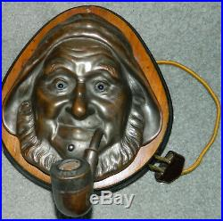 VINTAGE Electric NAUTICAL OLD SEAMAN CIGAR LIGHTER WALL PLAQUE With LIGHT UP EYES