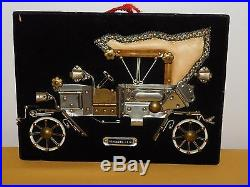 Vintage Folk Art Made From Old Hardware 1912 Mercedes Car 3 D Wall Plaque