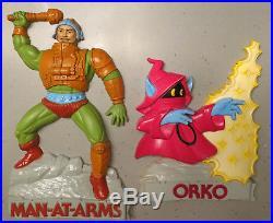 VINTAGE HE-MAN ORKO MAN-AT-ARMS DECORETTES MOTU Wall Hanging Plaque 1984 MATTEL