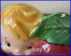 VINTAGE LEFTON Miss Dainty WALL POCKET PLANTER ANTHROPOMORPHIC WALL PLAQUE
