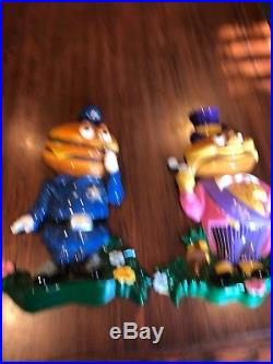 VINTAGE MCDONALDS MAYOR MCCHEESE and Officer Big Mac 3D WALL SIGN DISPLAY PLAQUE