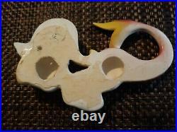 VINTAGE PY Ceramic Mermaid Wall Hanging Plaques Antique