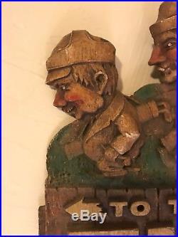 VTG Burwood Tivoli Beer To The 19th Hole Golf Sign Wall Plaque Art Denver Gift