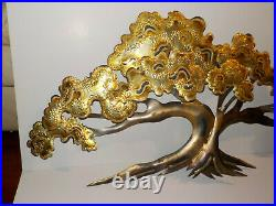 VTG MCM Brutalist C Jere Style Copper/Metal/Brass Abstract Tree Wall Sculpture