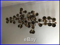VTG MCM Large Curtis Jere' Sculpture Wall Art Rain Drops Signed Brass Copper