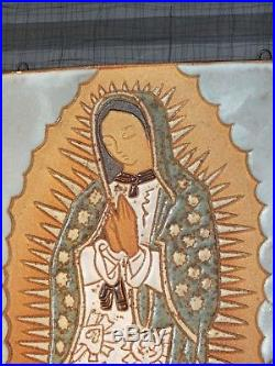 VTG Mid Century Modern VIRGIN MARY Religious Wall Plaque ART St Andrew Monks