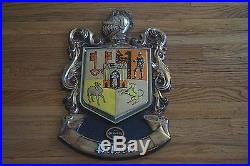 VTG Olympia Beer Advertisement Wall Plaque Pilsen Brewery Family Crest Knight