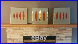 VTG Retro 50s/60s 3-D Psychedelic Acrylic MCM Wall Plaques, Space Age, Atomic