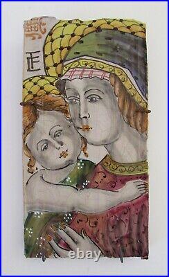 VTG VIETRI Italy Madonna & Child Wall Plaque 9.5