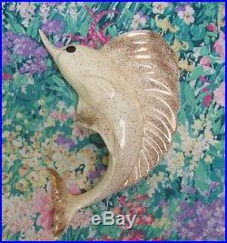 Very Rare Vtg Freeman Mcfarlin Marlin Swordfish Fish Wall Pocket Plaque