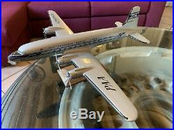 Vintage 1/72 PAN AM DC-6 by Atlantic Models With Berlin Wall Brass Plaque