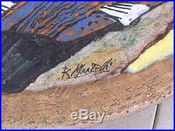 Vintage 18 1/2 Martelli Eames Era Mid Century Modern Italian Wall Plaque