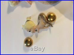 Vintage 1950s Bathroom Home Mermaid Gold Glitter Wall Decor Plaques