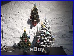 Vintage 1952 Noma Christmas Tree Wall Plaque Bubble Light C6 Rare