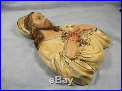 Vintage 1958 JESUS CHRIST& MARY Wall Plaques by United Jayess Catholic Religious