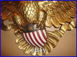Vintage 1958 Large 46 Syroco Gold Eagle And Shield Wall Plaque