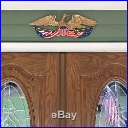 Vintage 1958 Patriotic Eagle Flag Metal Plaque Wall Hanging Whitehall, MI USA