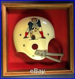 Vintage 1960's or 1970's Boston Patriots Riddell Helmet Wall Plaque