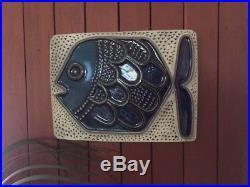 Vintage 1960s 1970s Mari Simmulson Iconic Fish Wall Plaque for Upsala Ekeby