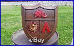 Vintage 1967 University Of Arkansas Razorbacks WALL PLAQUE Football/Baseball