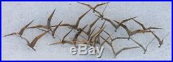 Vintage 1968 mid-century C. JERE Birds in Flight BRASS WALL SCULPTURE art WOW