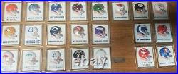 Vintage 1969 NFL/AFL Technigraph MINI Football Helmet Wall Plaque set 22 Ex Con