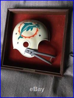 Vintage 1970s Miami Dolphins NFL FOOTBALL FULL SIZE RIDDELL HELMET WALL PLAQUE