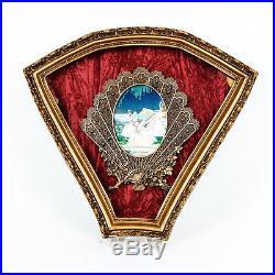 Vintage 20 1950's Red Velvet Italian 3D Victorian Figural Wall Plaque
